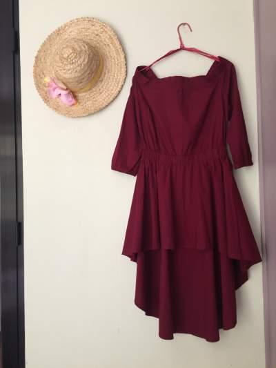 Burgundy Dress From Identity - Dresses (Women) on Aster Vender