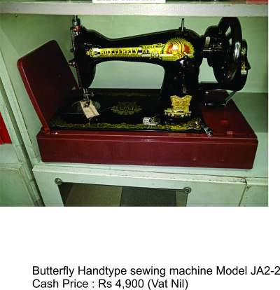 BUTTERFLY HANDTYPE MODEL JA-2 - Sewing Machines on Aster Vender