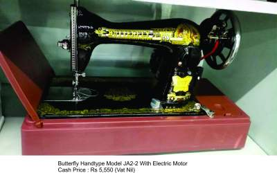 BUTTERFLY HANDTYPE MODEL JA2-2 WITH ELECTRIC MOTOR - Sewing Machines on Aster Vender
