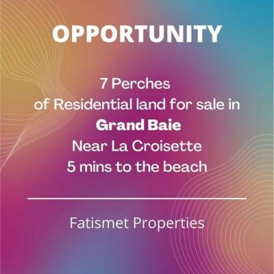 Land of 7 Perches at Grand Baie - Land on Aster Vender