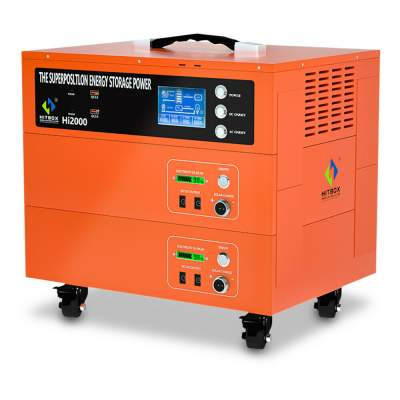 336000mh 2000W Solar Generator Inverter Energy Storage Bank Power Stat - Other machines on Aster Vender