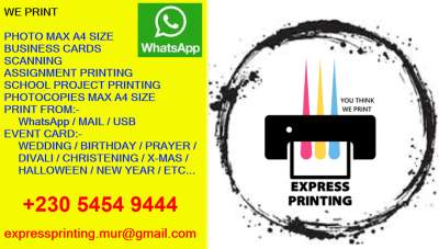 Express Printing - Others on Aster Vender