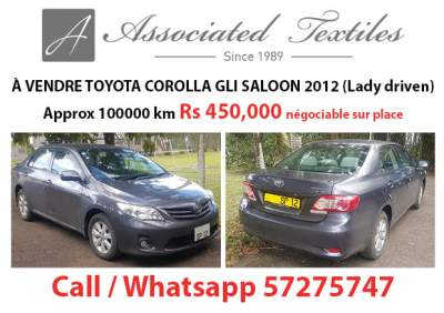 TOYOTA COROLLA GLI SALOON 2012 - Family Cars on Aster Vender