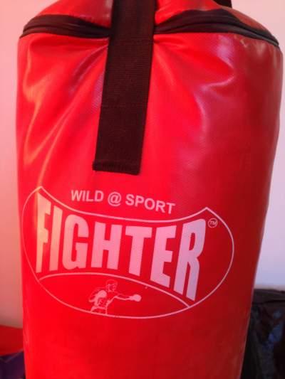 Trojan Dumbbell 20kg Set + Barbell 30kg Set + Punching Bag - Fitness & gym equipment on Aster Vender