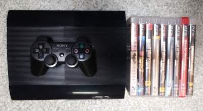 PLAYSTATION 3 - SLIM - 500GB - 1 CONTROLLER - 9GAMES - PlayStation 3 (PS3) on Aster Vender