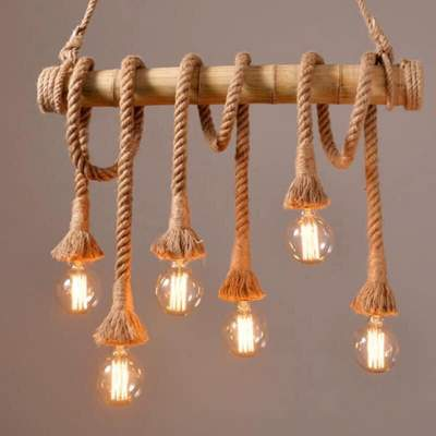 Ceiling Lights - Bamboo *6 rope - Interior Decor on Aster Vender
