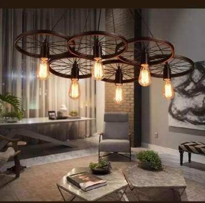 Ceiling Lights - Wheel black * 6 - Interior Decor on Aster Vender