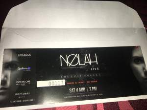 Ticket Nolah (The lost oracle) - Events on Aster Vender