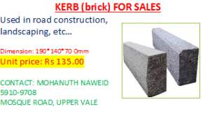 kerb (brick) a vendre - Other building materials on Aster Vender