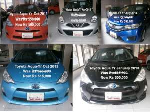 Honda nissan marc/Toyota Aqua - Family Cars on Aster Vender