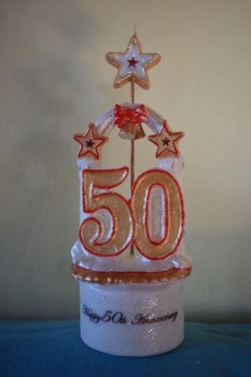 Personalised birthday candle - Catering & Restaurant on Aster Vender