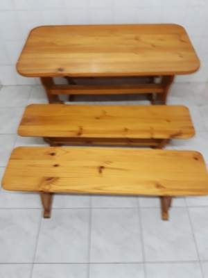 Table and Bench in pine - Table & chair sets on Aster Vender