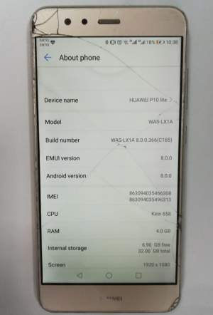 Huawei p10 lite Gold for sale - Huawei Phones on Aster Vender
