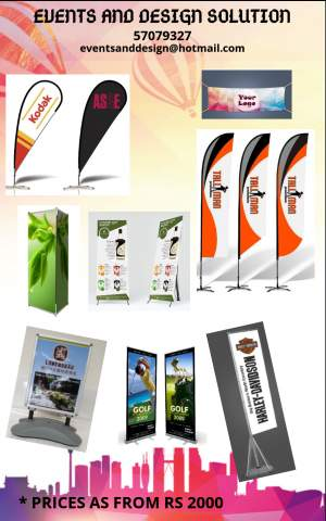 Outdoor and indoor banner - Graphic design on Aster Vender