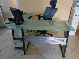 Tempered Glass Office table - Desks on Aster Vender