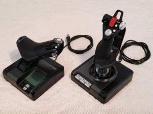 Saitek X52 PRO flight joystick +Flight Simulator X demo disc
