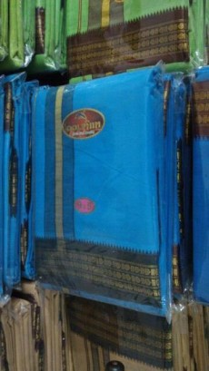 Veshti for govinden - plain blue colour - Religious Clothing on Aster Vender