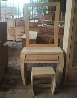 Teak Dressing table and stool - Bedroom Furniture on Aster Vender