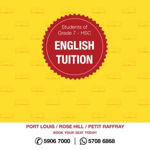 English Tuition - Private tuition on Aster Vender