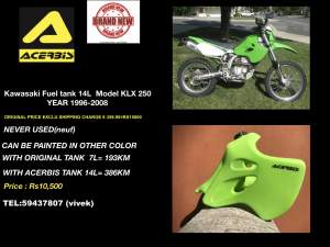 ACERBIS FUEL TANK FOR KAWASAKI KLX 250 - Off road bikes on Aster Vender