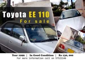 Toyota EE110 year 1999 - Family Cars on Aster Vender