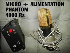 Micro Pro + Alimentation Phantom 48 Volt - Other Musical Equipment on Aster Vender