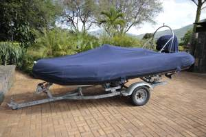 Avon 4.2m rigid inflatable with 60 HP Suzuki on professional trailer.  - Boats on Aster Vender