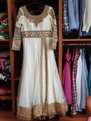 White indian gown from Season's shop Mumbai  - Wedding clothes on Aster Vender
