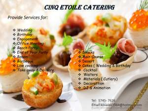 Catering services for all events  - Other wedding products on Aster Vender