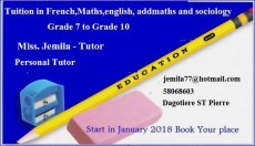 Tuition in French, Maths, English, Add Maths and sociology - Private tuition on Aster Vender