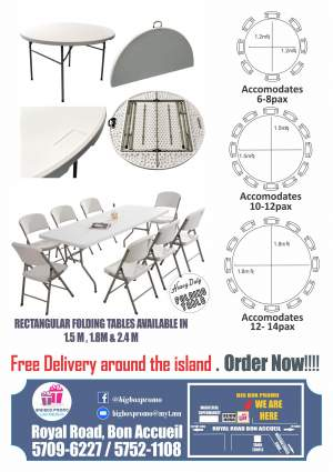 Folding Tables, Chairs, stools and Bencg - Table & chair sets on Aster Vender