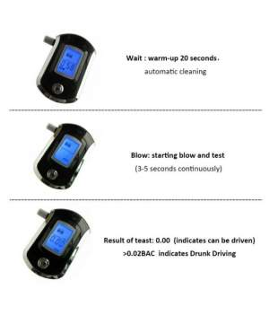 Breath Alcohol Tester AT6000 (ONLY 2 LEFT) - Health Products on Aster Vender