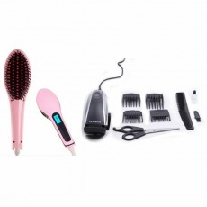 Set Straightener hair brush + set scarlet clipper hair. Immediate delivery! - Hair trimmers & clippers on Aster Vender