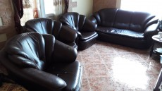 Mauritius Dark Brown Sofa Set  - Sofas couches on Aster Vender