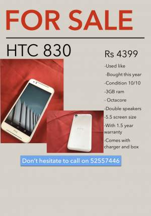 HTC 830 - Android Phones on Aster Vender