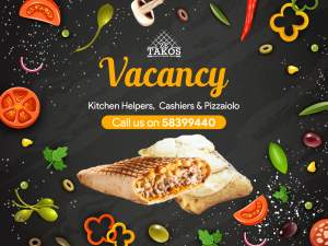 Vacancy: Ze Takos fast food - Jobs on Aster Vender