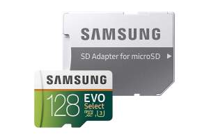 Samsung MicroSDXC EVO Select Memory Card w/ Adapter 128GB - Other phone accessories on Aster Vender