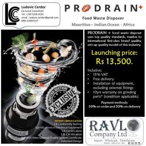 PRODRAIN PLUS MAURITIUS - Kitchen appliances on Aster Vender