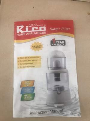 Rico water filter - Kitchen appliances on Aster Vender