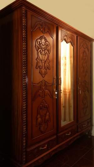 WOODEN WARDROBE - 3 DOORS - Bedroom Furnitures on Aster Vender