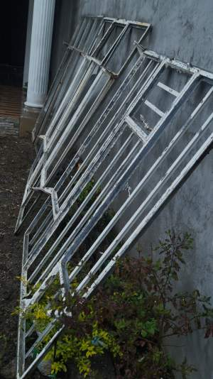 3 metal windows