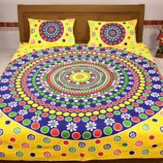 Rajasthani Cotton bedsheets - Bedsheets on Aster Vender