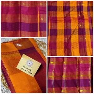 Art Silk Saree(Purple/Yellow/Pink) - Saree on Aster Vender
