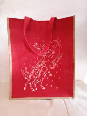 Christmas Jute bags - Bags on Aster Vender