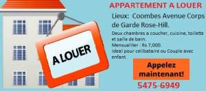 APPARTEMENT A LOUER  ROSE-HILL- 2 CHAMBRES A COUCHER - Apartments on Aster Vender