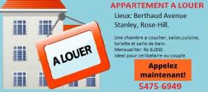 APPARTEMENT A LOUER- Stanley ROSE-HILL - Apartments on Aster Vender