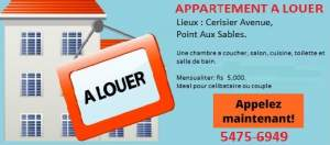 APPARTEMENT A LOUER POINT AUX SABLES - Apartments on Aster Vender