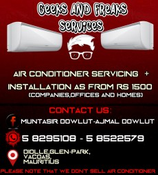AIR CONDITIONER SERVICING AND INSTALLATIONS AS FROM Rs 1500 - Home repairs & installation on Aster Vender