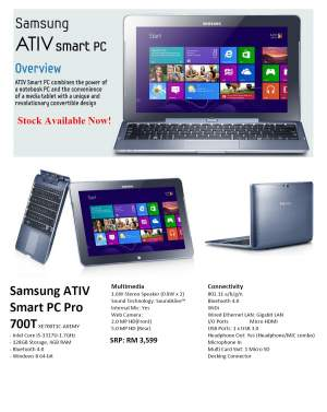 Samsung ATIV Smart PC - All Informatics Products on Aster Vender