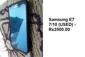 SAMSUNG GALAXY E7 - Android Phones on Aster Vender